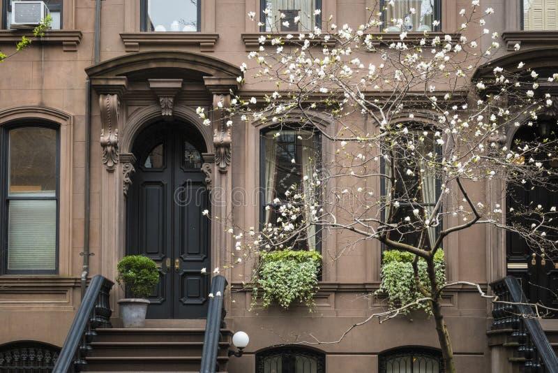 Costruzione di appartamento, Manhattan, New York immagini stock libere da diritti