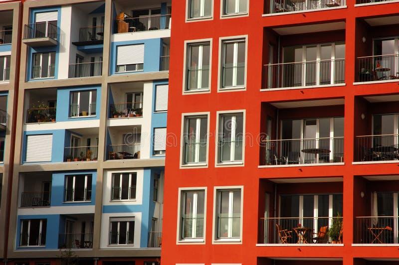 Costruzione di appartamento moderna fotografia stock libera da diritti