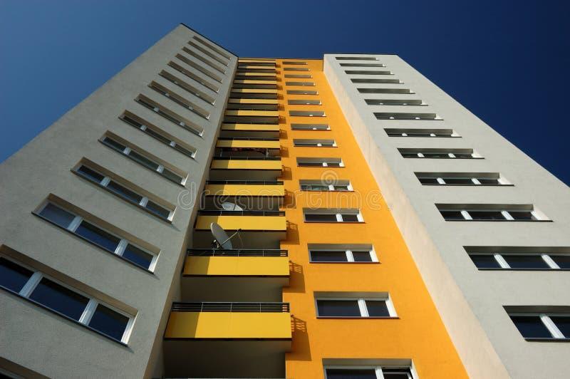 Costruzione di appartamento moderna fotografie stock