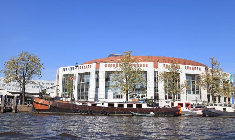 Costruzione di balletto e di opera (Stopera) a Amsterdam, Paesi Bassi immagini stock libere da diritti
