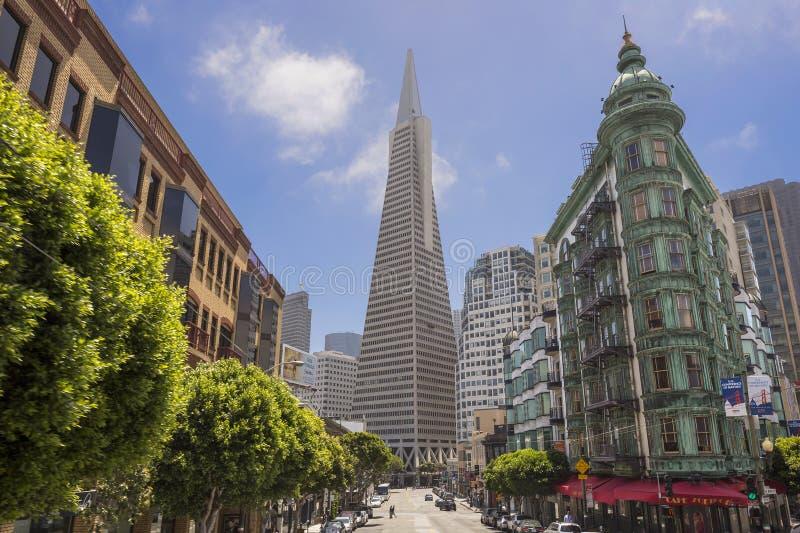 Costruzione di banca di Transamerica a San Francisco fotografia stock