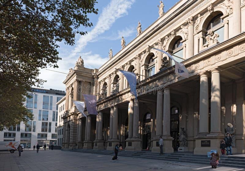 Costruzione di borsa valori a Francoforte sul Meno, Hesse, Germania fotografia stock libera da diritti