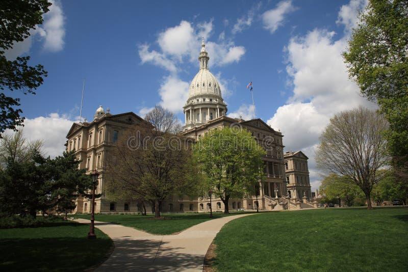 Costruzione di Campidoglio degli stati del Michigan fotografia stock libera da diritti