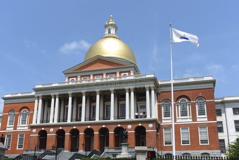 Costruzione di Campidoglio della condizione del Massachusetts fotografie stock libere da diritti