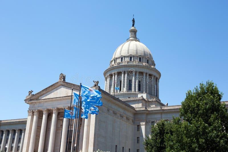 Costruzione di Campidoglio della condizione dell'Oklahoma immagini stock libere da diritti