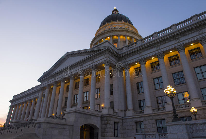 Costruzione di Campidoglio della condizione dell'Utah immagini stock libere da diritti