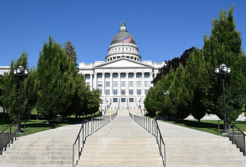 Costruzione di Campidoglio della condizione dell'Utah fotografia stock