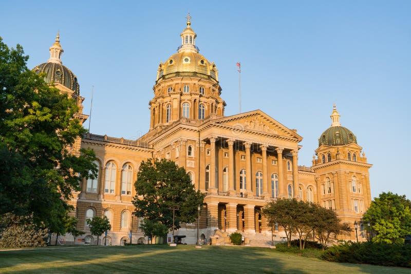 Costruzione di Campidoglio della condizione dello Iowa fotografia stock