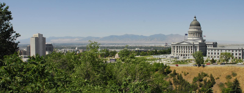 Costruzione di chiesa dei lds del capitol N dell'Utah fotografie stock libere da diritti