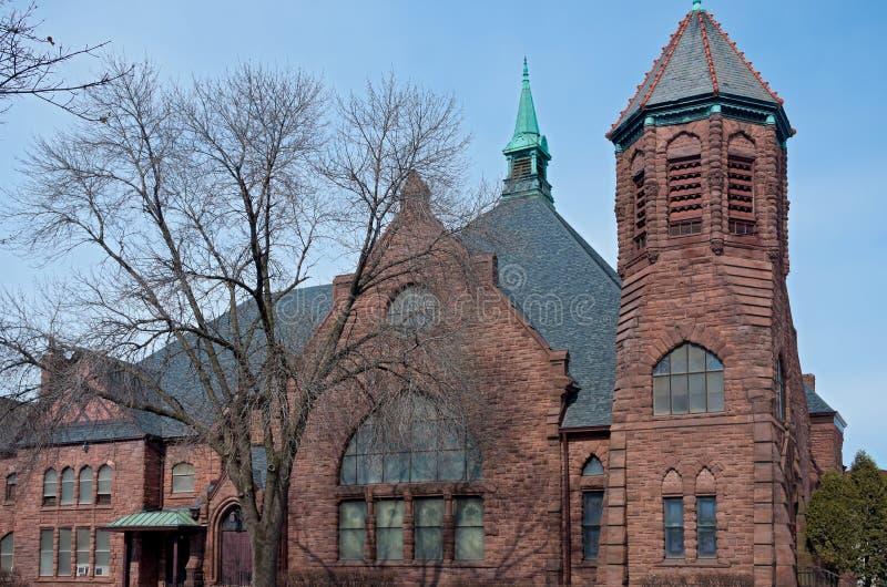 Costruzione di chiesa storica a Minneapolis fotografia stock libera da diritti