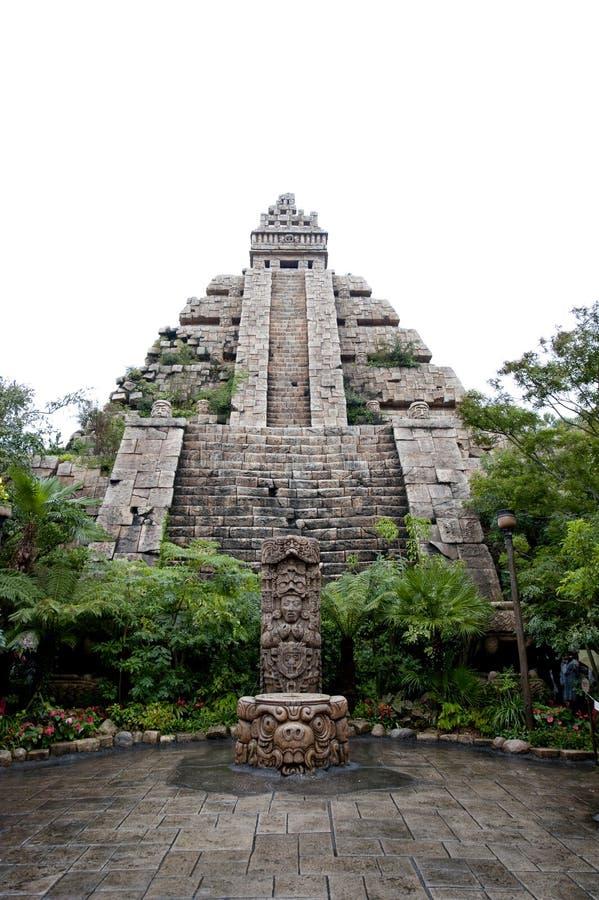Costruzione di civilizzazione del Maya immagine stock