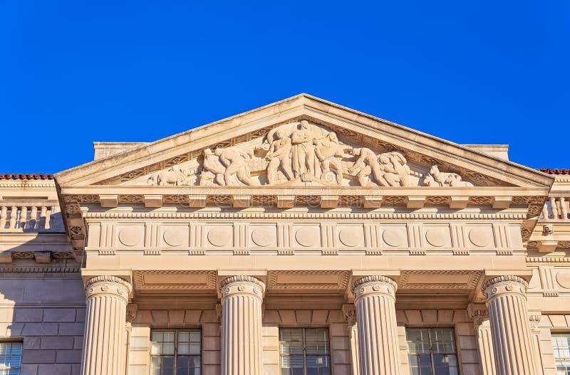 Costruzione di commercio degli Stati Uniti nel Washington DC fotografie stock