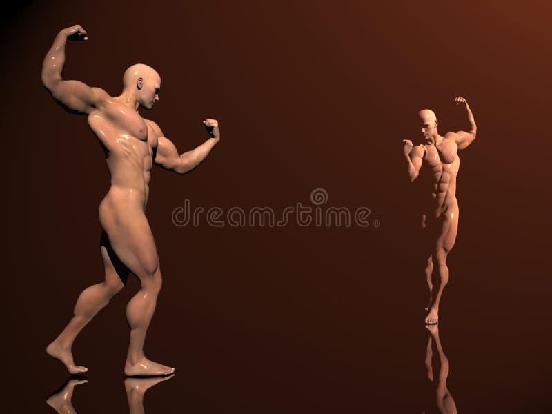 Costruzione di corpo, gioco di ombra royalty illustrazione gratis
