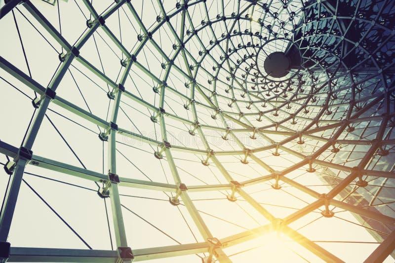 Costruzione di edifici della struttura d'acciaio del metallo all'aperto fotografie stock