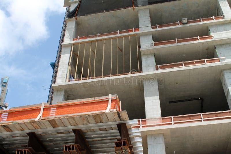 Costruzione di edifici a Miami immagini stock libere da diritti