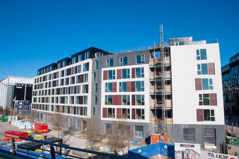 costruzione di edificio residenziale moderno immagini stock libere da diritti