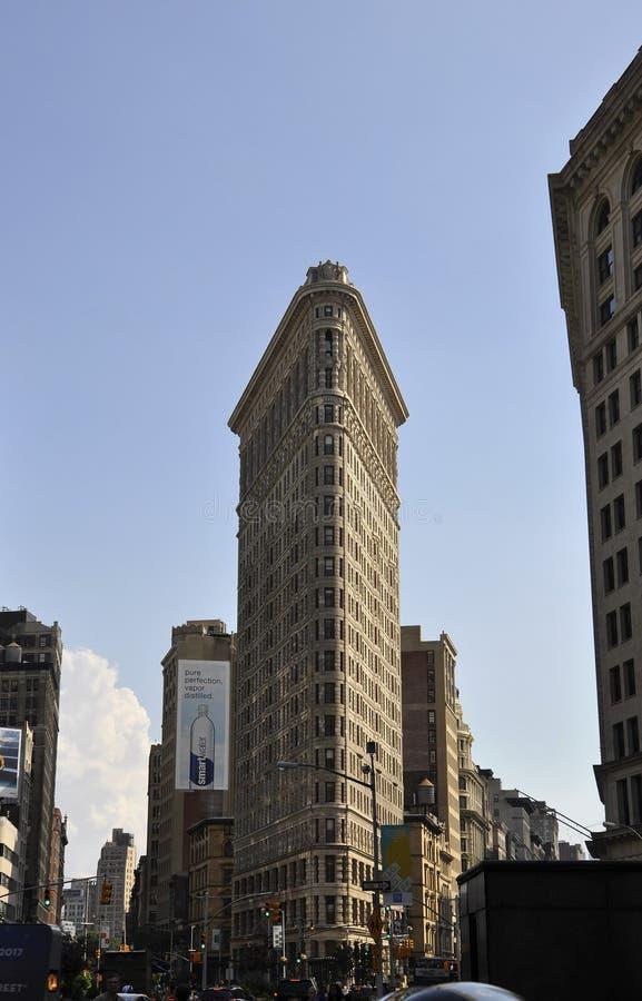 Costruzione di ferro da stiro nel Midtown Manhattan da New York negli Stati Uniti immagini stock libere da diritti