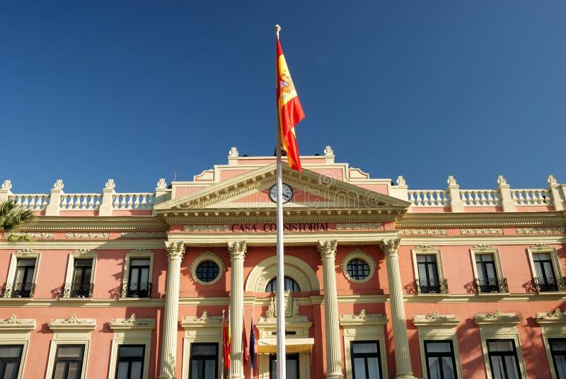 Costruzione di governo a Murcia fotografia stock libera da diritti