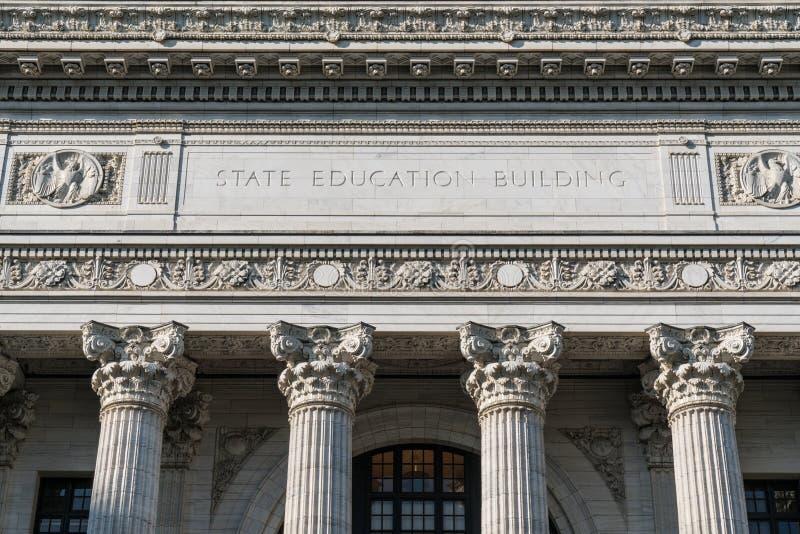 Costruzione di istruzione dello stato fotografie stock libere da diritti