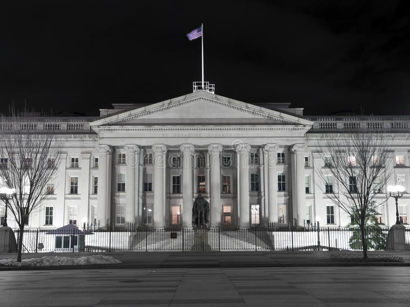 Costruzione di Ministero del Tesoro degli Stati Uniti - CC di Washingting immagine stock libera da diritti