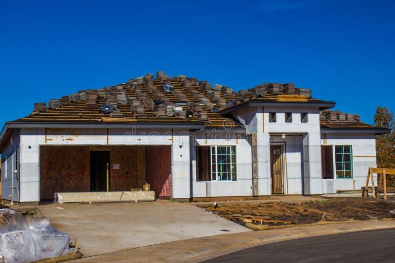 Costruzione di nuova casa immagini stock libere da diritti
