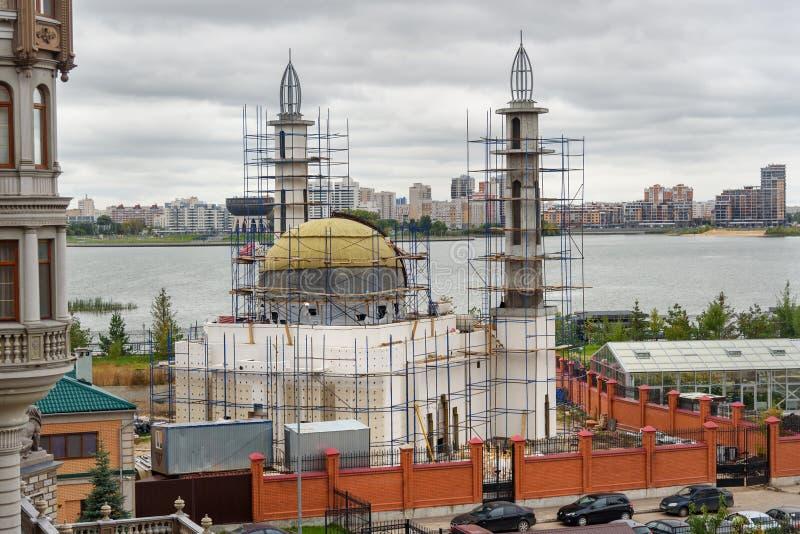 Costruzione di nuova moschea a Kazan La Russia fotografie stock