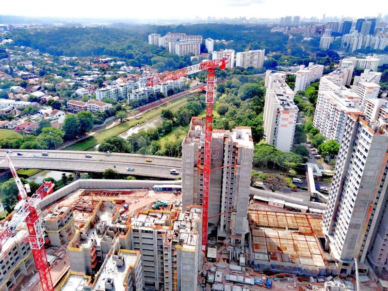 Costruzione di nuovi edifici a Singapore fotografia stock libera da diritti