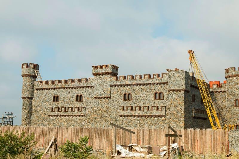 Costruzione di nuovo castello immagini stock libere da diritti