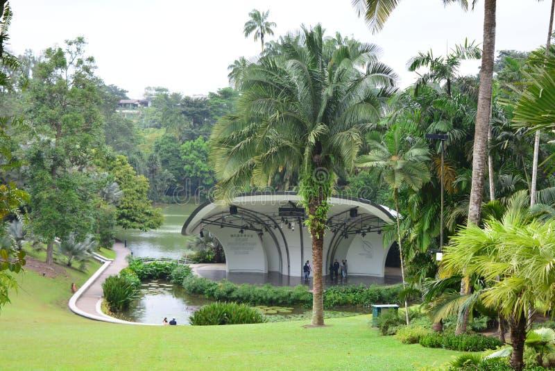 Costruzione di opera al giardino botanico di Singapore immagine stock