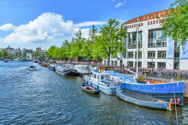 Costruzione di opera e di balletto di Nationale (Stopera) a Amsterdam immagine stock