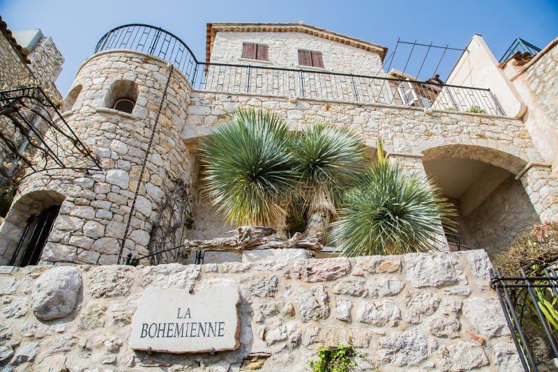 Costruzione di pietra sulla La Bohemiennein Eze di modo immagine stock libera da diritti