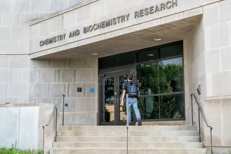 Costruzione di ricerca in biochimica ed in chimica all'università di AR immagini stock libere da diritti