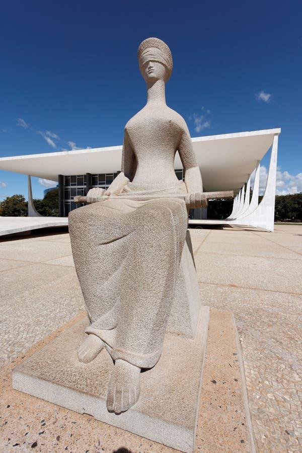 Costruzione di STF a Brasilia immagini stock