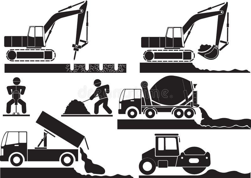 Costruzione di strade illustrazione di stock