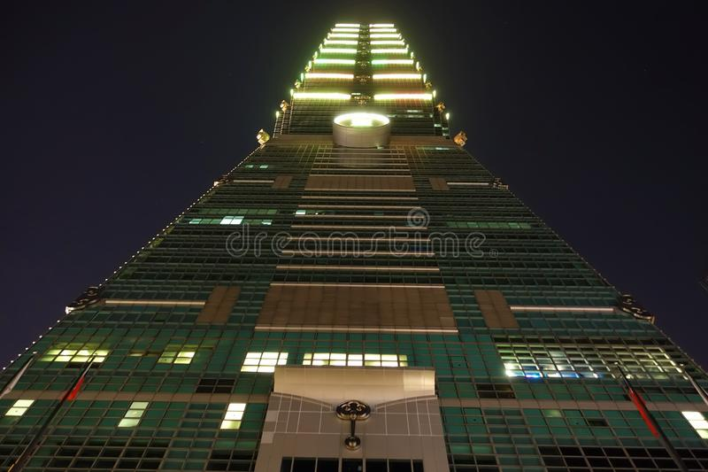 Costruzione di Taipei 101 in Taiwan fotografia stock