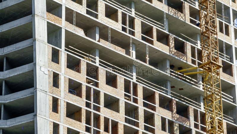 Costruzione di un edificio moderno immagini stock