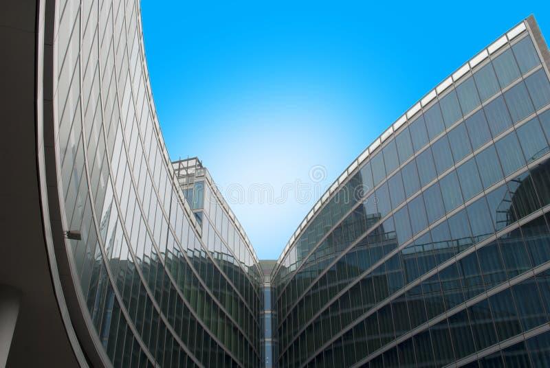 Costruzione di vetro fotografia stock libera da diritti
