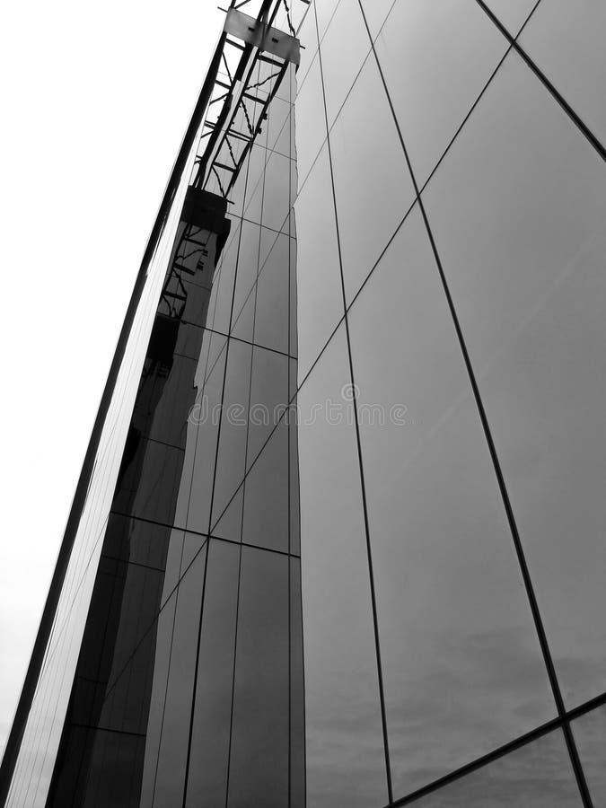 Costruzione di vetro fotografie stock