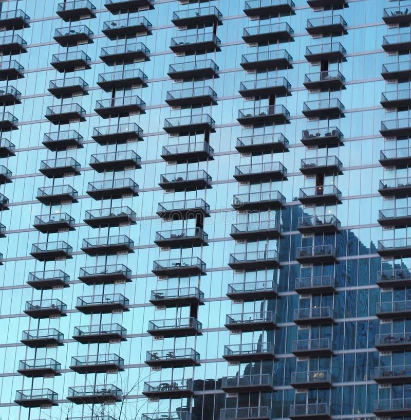 Costruzione di vetro in Buckhead, Atlanta Georgia fotografia stock