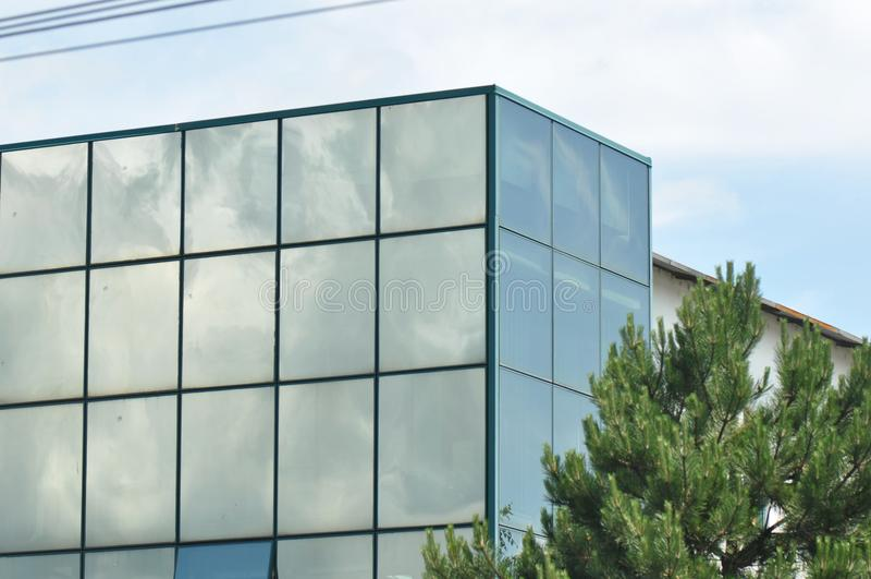 Costruzione di vetro moderna fotografie stock libere da diritti