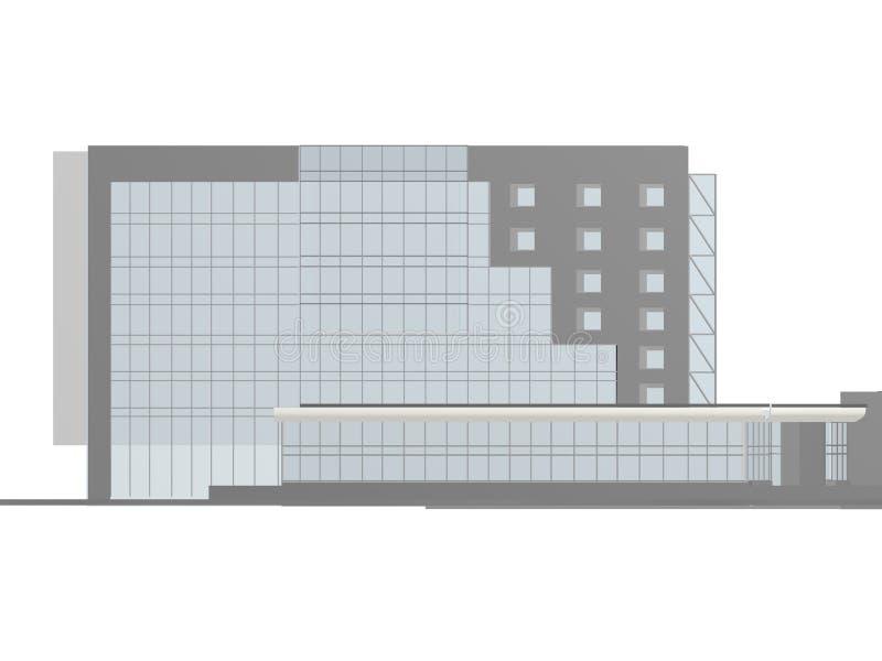 Costruzione di vizualization del modello di progetto 3d di architettura fotografie stock