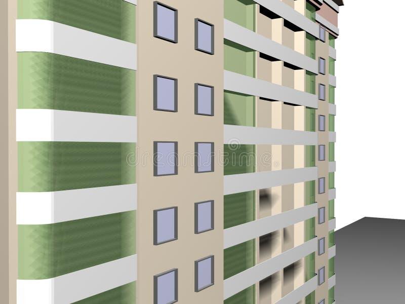 Costruzione di vizualization del modello di progetto 3d di architettura immagini stock libere da diritti