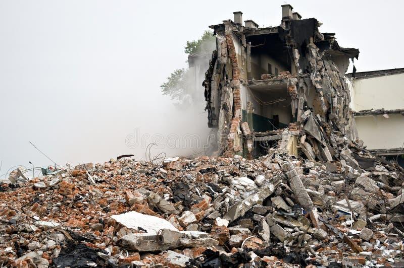 Costruzione distrussa, residui. Serie immagini stock libere da diritti