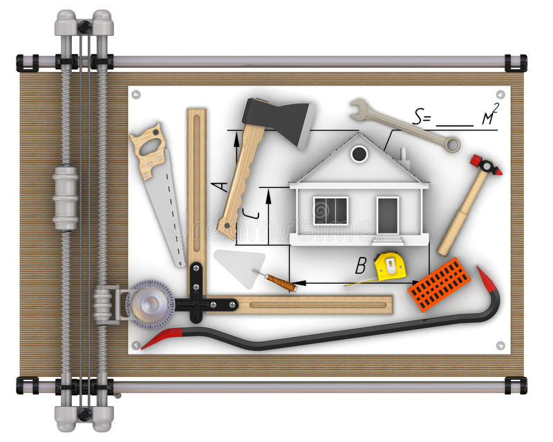 Costruzione domestica concetto illustrazione di stock for Costruzione domestica economica