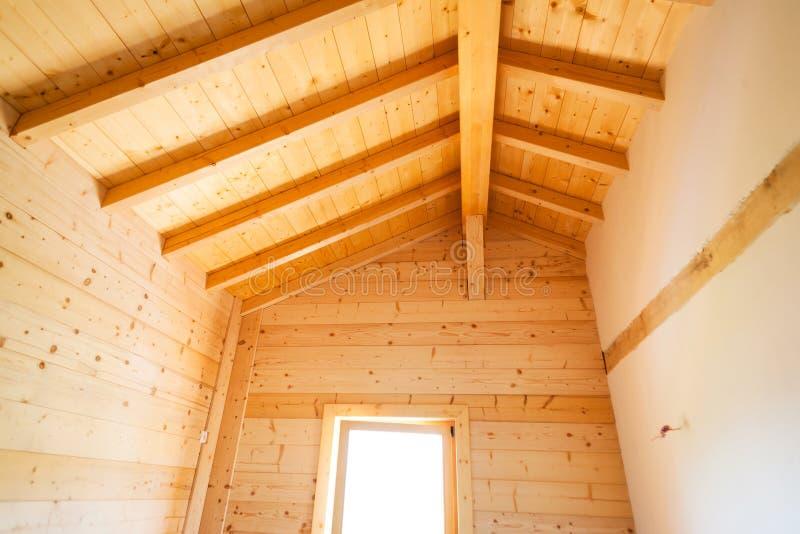 Costruzione domestica di legno fotografia stock