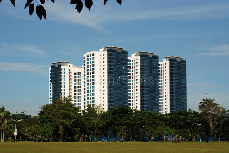 Costruzione e grattacielo moderni immagine stock libera da diritti