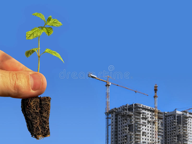 Costruzione ecologica fotografie stock libere da diritti