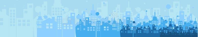 Costruzione ed illustrazione della città del bene immobile sottragga la priorità bassa illustrazione vettoriale