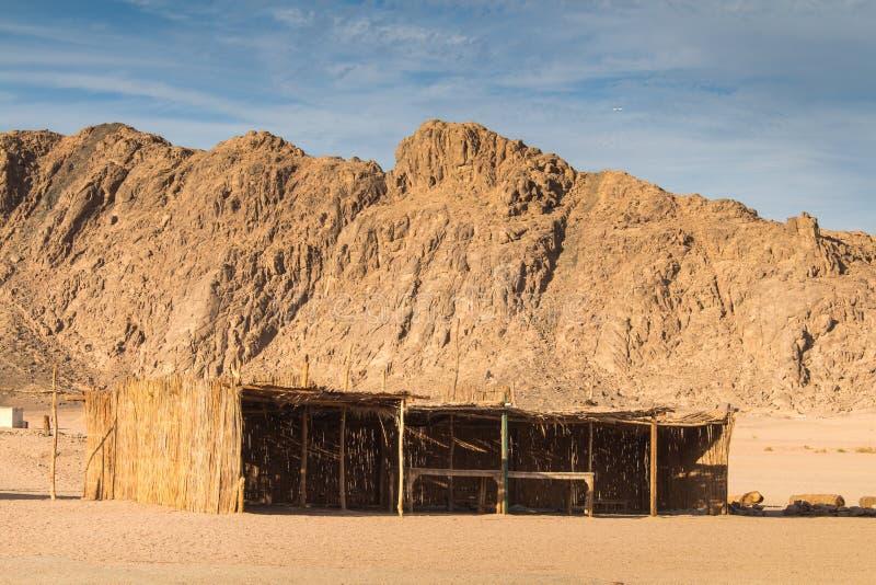 Costruzione egiziana del beduino e del deserto immagine stock