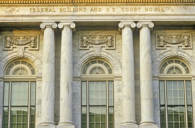 Costruzione federale ed U S Camera di corte di Macon, Georgia fotografia stock